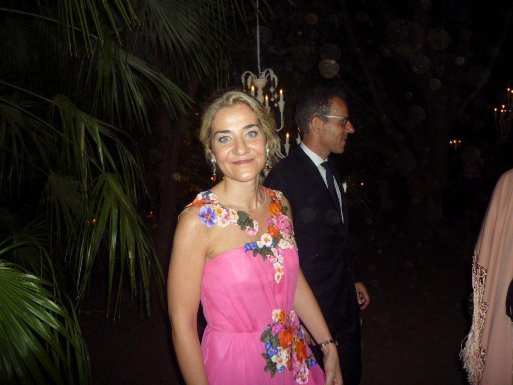 Mariangela Grimaldi di Serravalle, sorella della  festeggiata