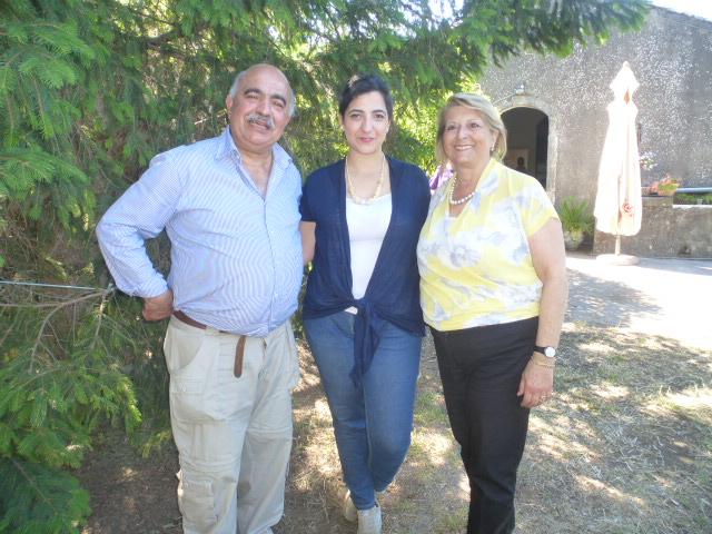Pietro e Francesca Grassi Bertazzi con la figlia Benedetta