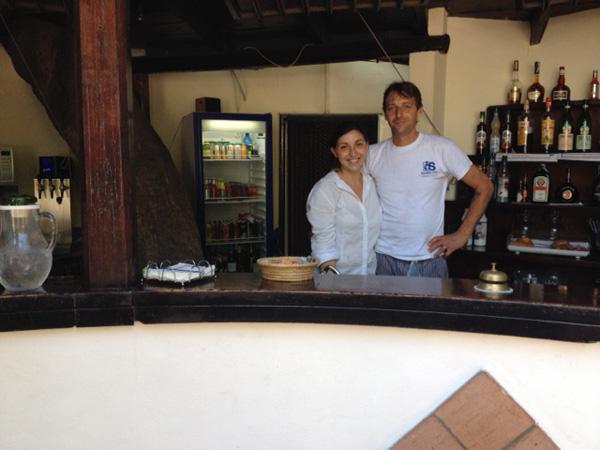 Serena e Claudio titolari del bar
