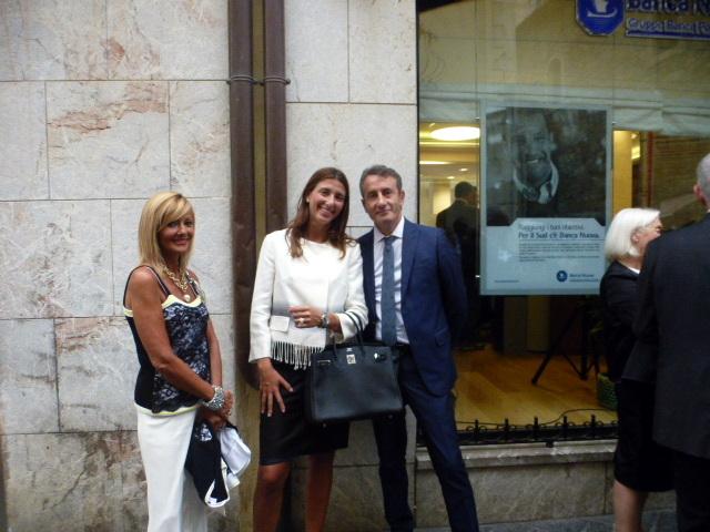 Emilia Spampinato con Valeria e  Marcello Abate