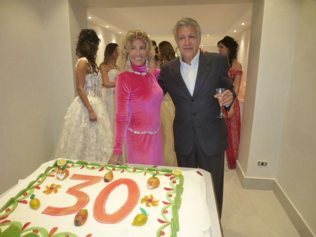 Mariella col marito Delfo Matarazzo