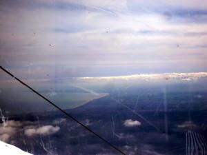 Il Golfo di catnia  visto dalla cabinovia. Chi puo' avere  la stessa cosa al mondo ?