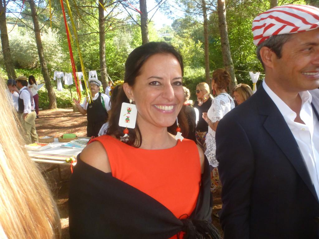 orecchini con carte siciliane( misura reale !!)