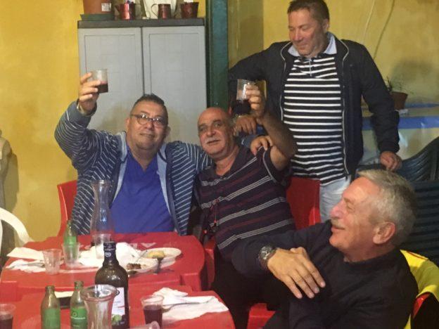 serata in allegria con Franco Corallo e Matteo Capuanae Nello Fisichella, , meno allegri la Domenica...i